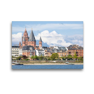 Premium Textil-Leinwand 45 cm x 30 cm quer Mainz am Rhein