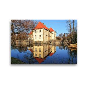 Premium Textil-Leinwand 45 cm x 30 cm quer Wasserschloss Strünke