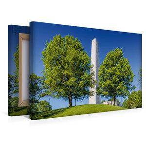 Premium Textil-Leinwand 45 cm x 30 cm quer BOSTON Bunker Hill Mo
