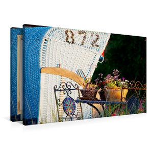Premium Textil-Leinwand 90 cm x 60 cm quer Trauminsel Amrum