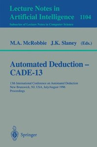 Automated Deduction CADE-13