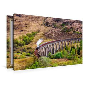 Premium Textil-Leinwand 120 cm x 80 cm quer Glenfinnan Viadukt