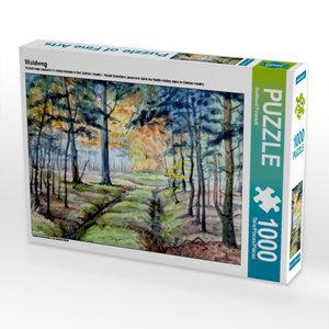 Waldweg 1000 Teile Puzzle quer