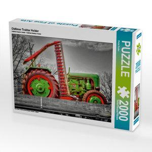 Oldtimer Traktor Holder 2000 Teile Puzzle quer