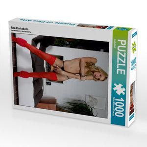 Red Rockabella 1000 Teile Puzzle hoch