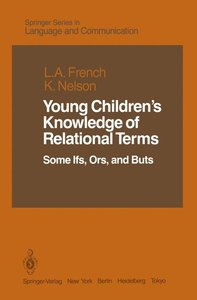Young Children's Knowledge of Relational Terms