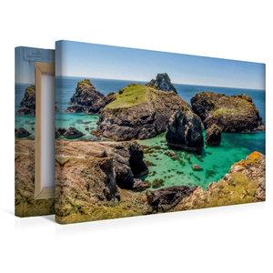 Premium Textil-Leinwand 45 cm x 30 cm quer Kynance Cove in Cornw