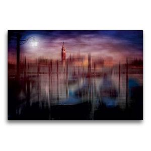 Premium Textil-Leinwand 75 cm x 50 cm quer City-Art VENEDIG Gond