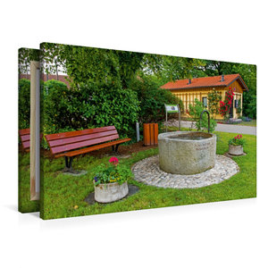 Premium Textil-Leinwand 90 cm x 60 cm quer Toni-Meyer-Brunnen Ha