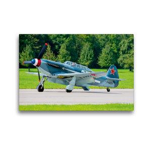 Premium Textil-Leinwand 45 cm x 30 cm quer Yakovlev Yak-3