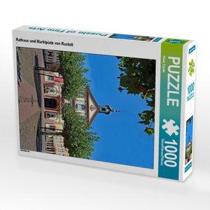 CALVENDO Puzzle Rathaus und Marktplatz von Rastatt 1000 Teile Le