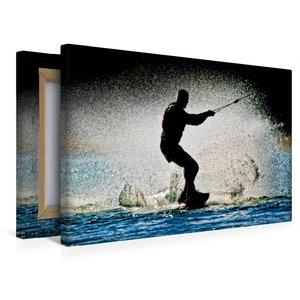 Premium Textil-Leinwand 45 cm x 30 cm quer Wakeboarden