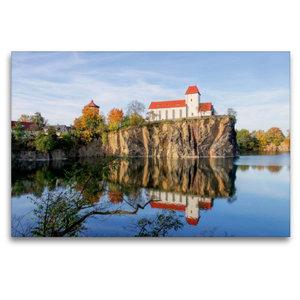 Premium Textil-Leinwand 120 cm x 80 cm quer Bergkirche Beucha