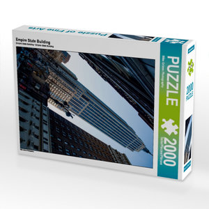 Empire State Building 2000 Teile Puzzle hoch