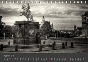 Dresden Schwarz Weiss 2019 (Tischkalender 2019 DIN A5 quer)