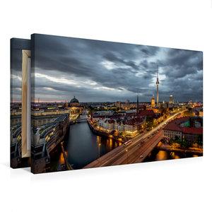 Premium Textil-Leinwand 75 cm x 50 cm quer Fischerinsel
