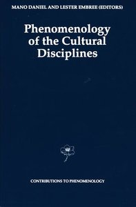 Phenomenology of the Cultural Disciplines