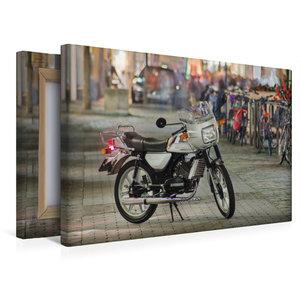 Premium Textil-Leinwand 45 cm x 30 cm quer Zündapp KS 50 Waterco
