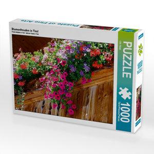 Blumenfreuden in Tirol 1000 Teile Puzzle quer