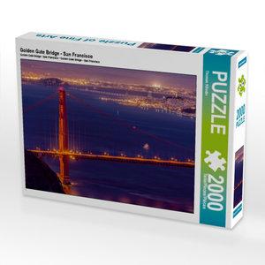 Golden Gate Bridge - San Francisco 2000 Teile Puzzle quer