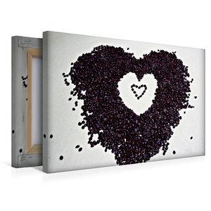 Premium Textil-Leinwand 45 cm x 30 cm quer Ein Herz für Kaffee