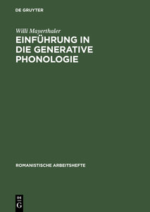 Einführung in die generative Phonologie