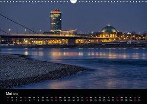 Düsseldorf - Rheinansichten (Wandkalender 2019 DIN A3 quer)