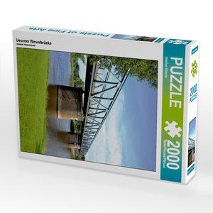 Uesener Weserbrücke 2000 Teile Puzzle hoch