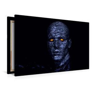 Premium Textil-Leinwand 120 cm x 80 cm quer Cyborg