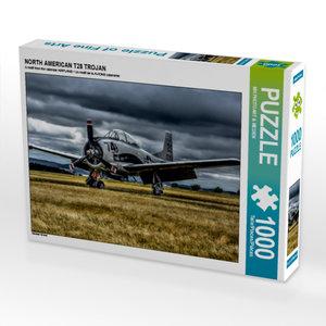 CALVENDO Puzzle NORTH AMERICAN T28 TROJAN 1000 Teile Lege-Größe