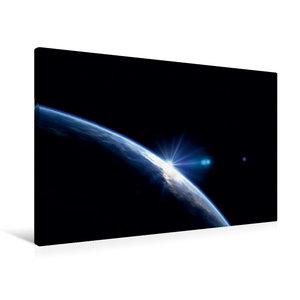 Premium Textil-Leinwand 90 cm x 60 cm quer Der blaue Planet