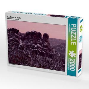 CALVENDO Puzzle Gansfelsen im Winter 2000 Teile Lege-Größe 90 x