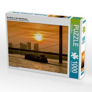 Der Rhein in der Abendsonne 1000 Teile Puzzle quer