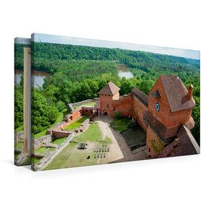 Premium Textil-Leinwand 90 cm x 60 cm quer Burg Turaida