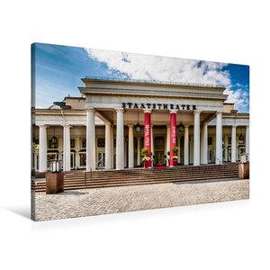 Premium Textil-Leinwand 90 cm x 60 cm quer Wiesbaden
