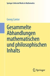 Gesammelte Abhandlungen mathematischen und philosophischen Inhal
