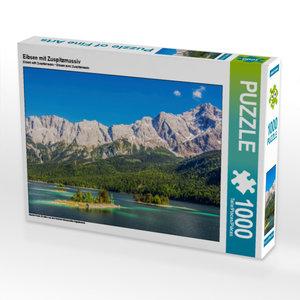 CALVENDO Puzzle Eibsee mit Zuspitzmassiv 1000 Teile Lege-Größe 6