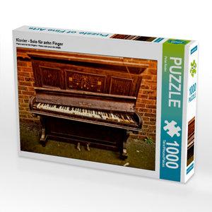 Klavier - Solo für zehn Finger 1000 Teile Puzzle quer