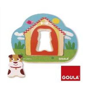 Goula D53124 - Holzpuzzle Tobbys Hundehütte, 3-teilig