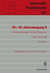 GI - 16. Jahrestagung II