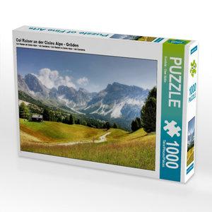 Col Raiser an der Cisles Alpe - Gröden 1000 Teile Puzzle quer