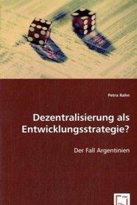 Dezentralisierung als Entwicklungsstrategie?