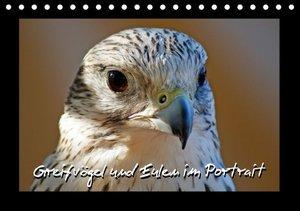 Greifvögel und Eulen im Portrait (Tischkalender 2016 DIN A5 quer
