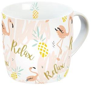Flamingo Porzellantasse Relax