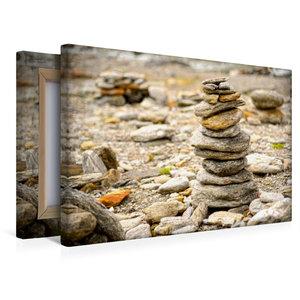 Premium Textil-Leinwand 45 cm x 30 cm quer Stein Pyramide