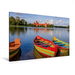 Premium Textil-Leinwand 120 cm x 80 cm quer Litauen - Wasserburg