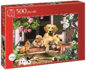 Versammlung auf der Veranda - 500 Teile Puzzle