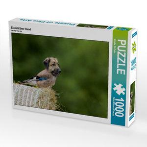 Eichelhäher-Hund 1000 Teile Puzzle quer