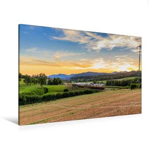 Premium Textil-Leinwand 120 cm x 80 cm quer Region Zofingen: Re