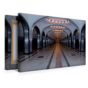 Premium Textil-Leinwand 45 cm x 30 cm quer Moskauer Metro, Metro
